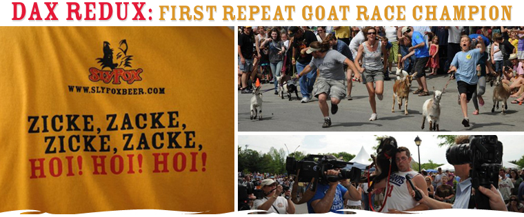 DAX REDUX: FIRST REPEAT GOAT RACE CHAMPION